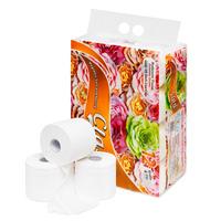 Giấy vệ sinh Clasi hoa hồng 4 lớp (12 cuộn/1.7kg/xách)