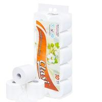 Giấy vệ sinh Clasi hoa bông cam 3 lớp (10cuộn/1.5kg/ xách)