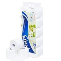 Giấy vệ sinh Clasi hoa bông xanh 3 lớp (10cuộn/1.7kg/ xách)