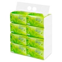 Giấy rút Alibaba trà xanh 3 lớp (450 tờ/gói, 8 gói/xách)