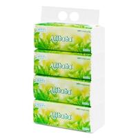 Giấy rút Alibaba trà xanh 3 lớp (450 tờ/gói, 4 gói/xách)